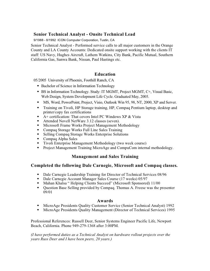 donald w baxter resume project focused manager