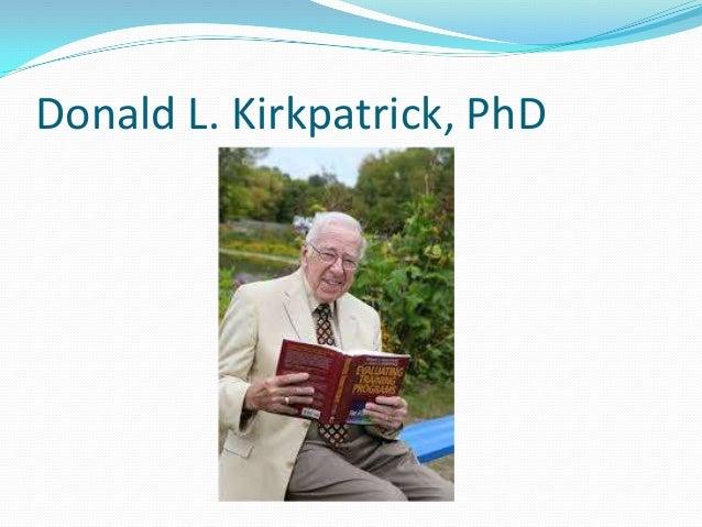 Donald L. Kirkpatrick, PhD