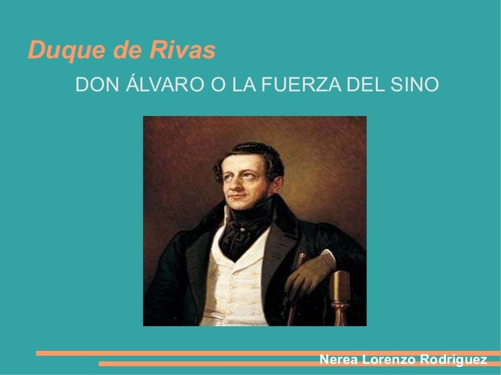 Don Álvaro o la fuerza del sino , presentación 2