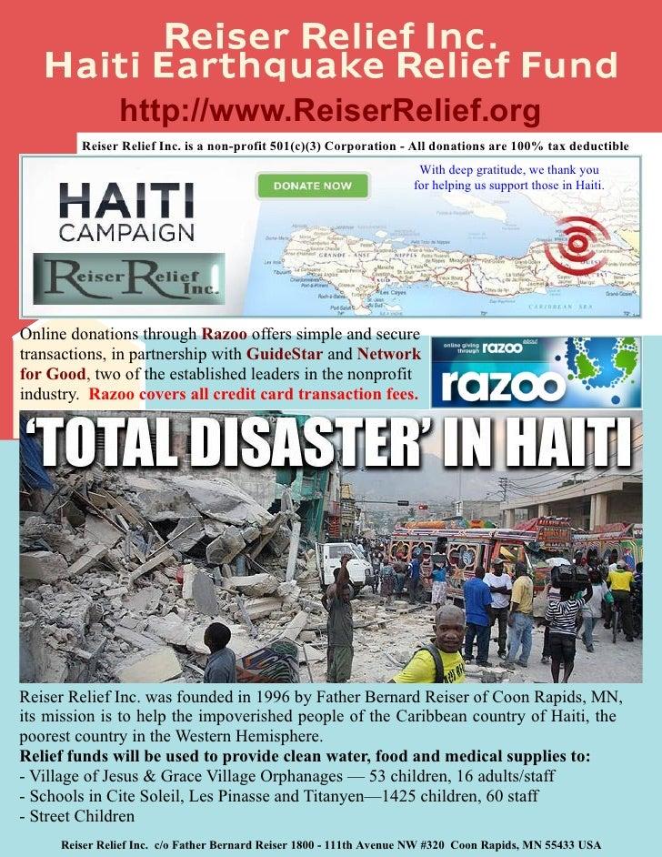 Haiti Earthquake Relief Fund