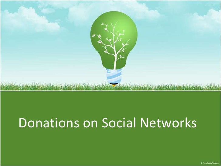 Donations on Social Networks<br />