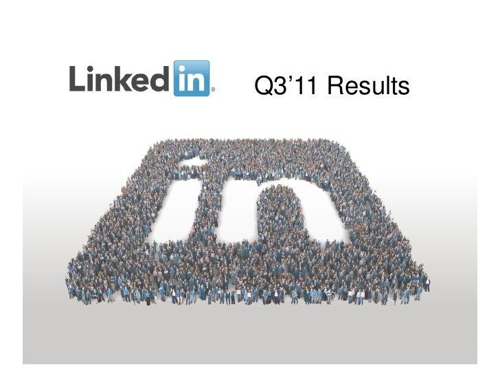 LinkedIn's Q3 Earnings Call