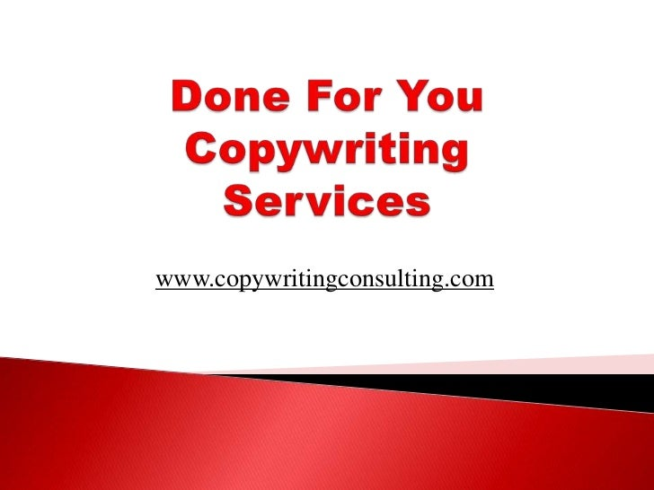Done For You Copywriting Services