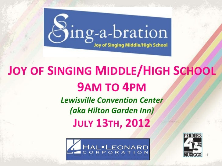 Sing-a-bration 2012: Joy of Singing Middle/High School | Choral Sheet Music