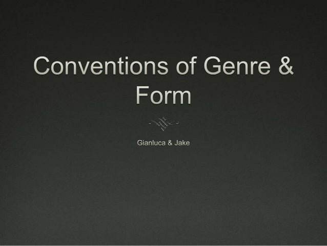 Conventions of an Opening Sequence  The purpose of an opening sequence is to establish the mood and visual character of a...