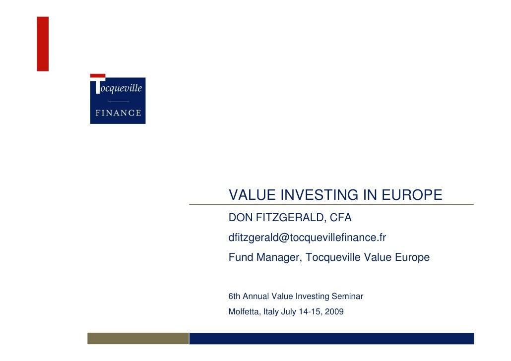 Value Investing Seminar July 2009