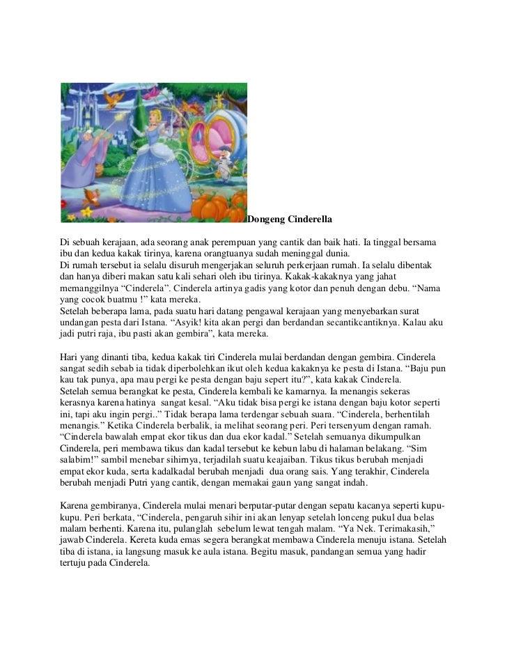 Cerita Dongeng Cinderella Dongeng Cinderelladi