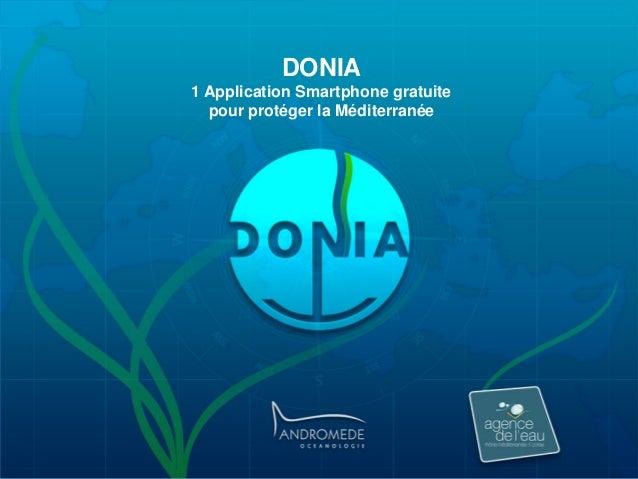 DONIA 1 Application Smartphone gratuite pour protéger la Méditerranée
