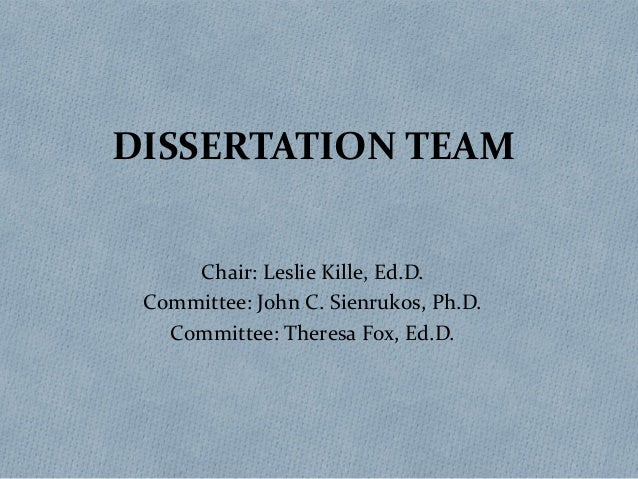 Dissertation and volunteers
