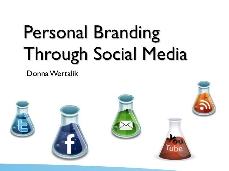 Social Media and Personal Branding