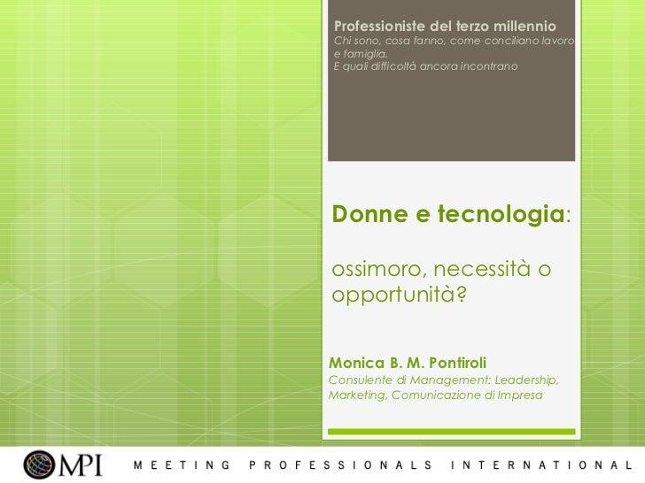 Seminario 22 marzo 2011: Professioniste del terzo millennio