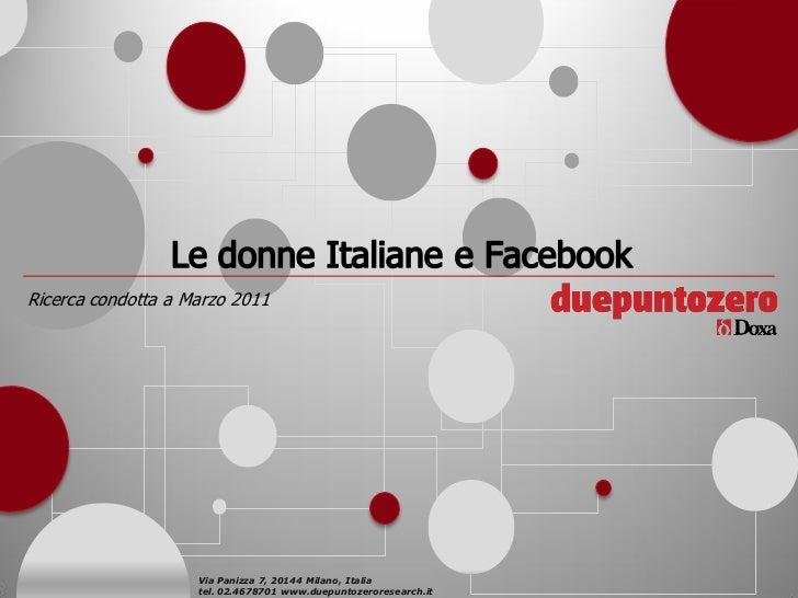 Donne e facebook