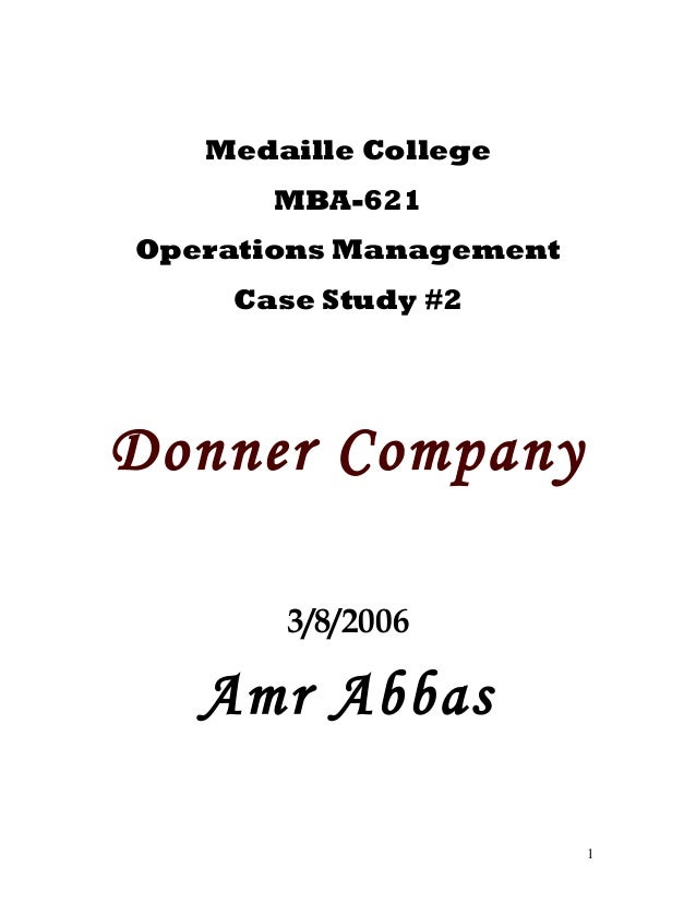 operations management case studies analysis Operations management case studies provide students with real world business issues learn about the offerings from learningedge at mit sloan.
