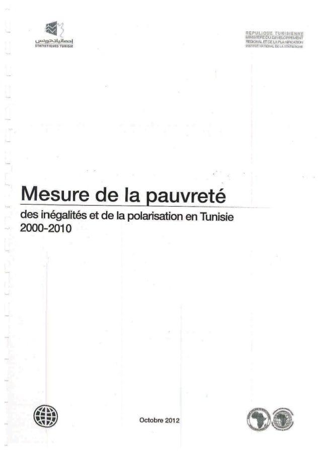 Rapport sur la Pauvreté en Tunisie - INS 2012