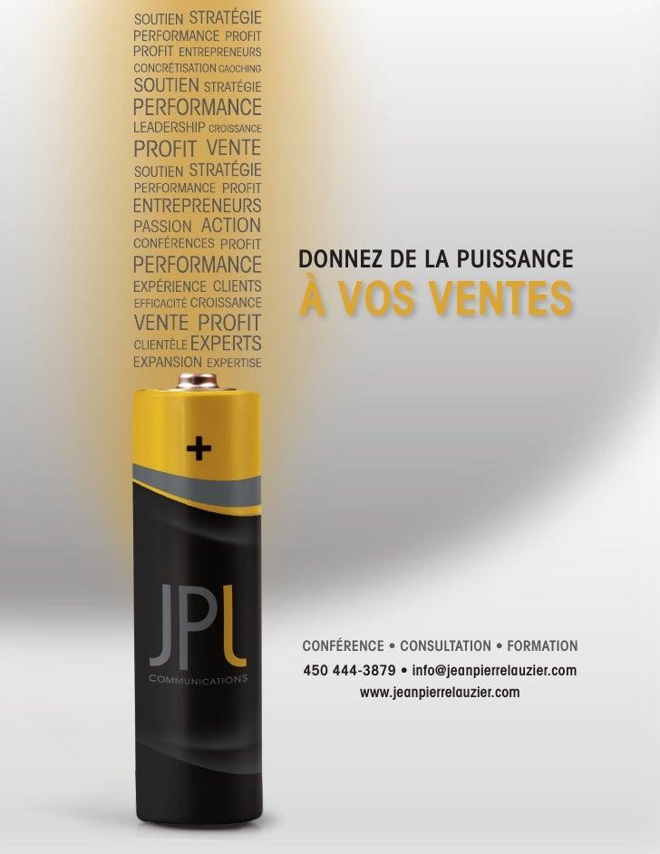 PASSION ACTION                   DONNEZ DE LA PUISSANCE                  À VOS VENTES                      CONFÉRENCE • CO...