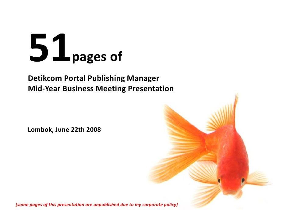 pages of       Detikcom Portal Publishing Manager       Mid‐Year Business Meeting Presentation         Lombok, June 22th 2...