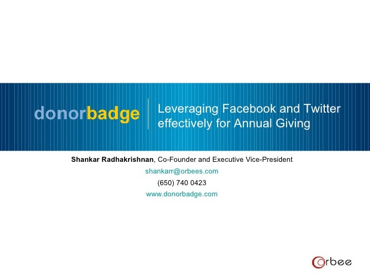 donorbadge - powering fundraising across social networks