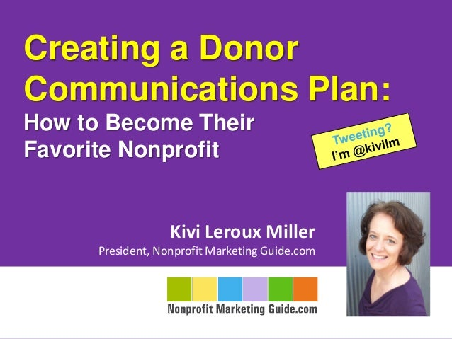 Creating a Donor Communications Plan