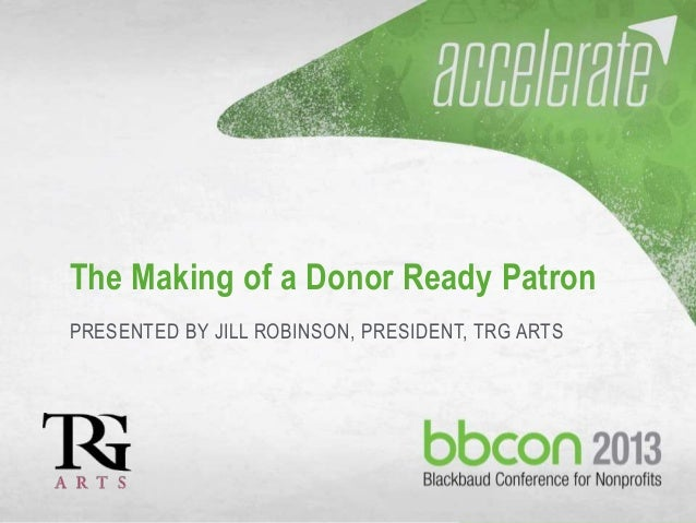 The Donor Ready Patron: Live from BBCON