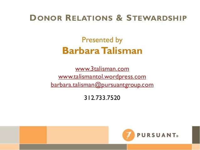 Donor Relations and Stewardship