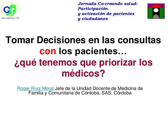 Jornada Co-creando salud:                             Participación                             y activación de pacientes ...