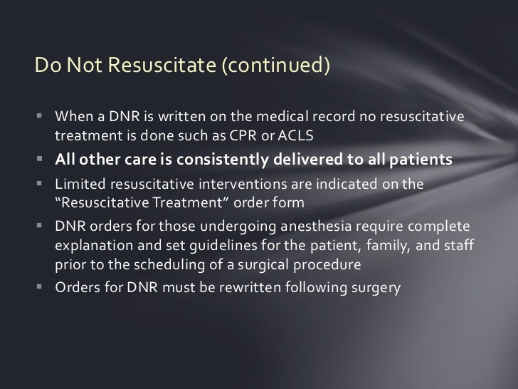 Do Not Resuscitate Order  Florida Department of Health