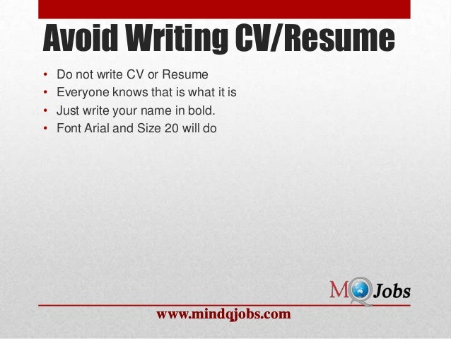mindqjobs what not to write in a resume