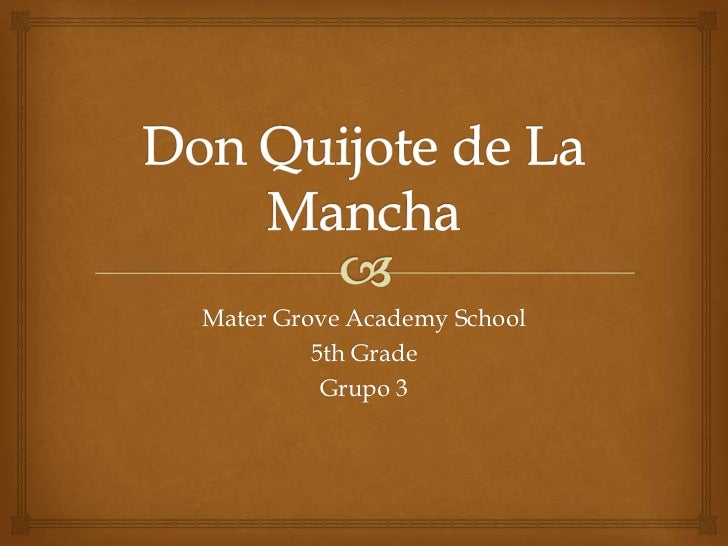 Mater Grove Academy School         5th Grade          Grupo 3