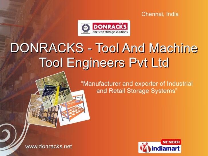 Tool and machine tool engineers pvt ltd. tamil nadu india