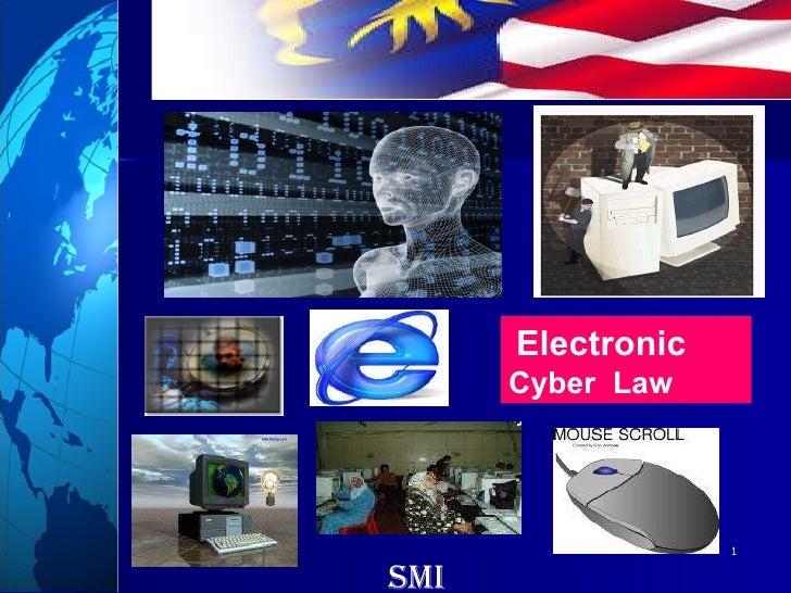 Electronic   Cyber  Law smi