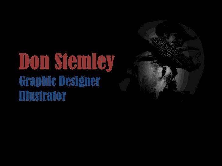 Don Stemley Portfolio
