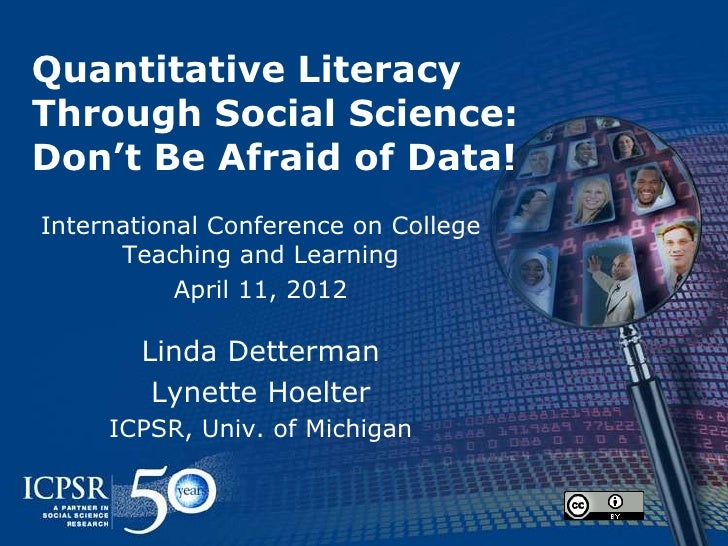 Quantitative Literacy:  Don't be afraid of data (in the classroom)!