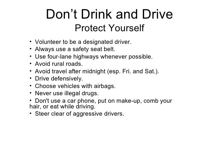 an analysis of drinking and driving infomercials and if they really work Driving under the influence has affected many people's lives and families today i would like to talk to you about the problems of drinking and driving, and why it is a concern for all of us.