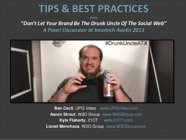 Ben Cecil, UPG Video www.UPGVideo.com Aaron Strout, W2O Group www.W2OGroup.com Kyle Flaherty, 21CT www.21CT.com Lionel Men...