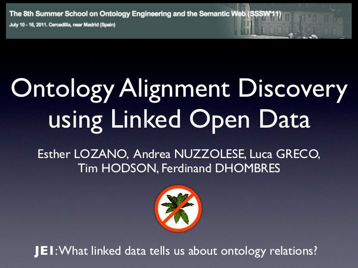 Ontology Alignment Discovery  using Linked Open Data  Esther LOZANO, Andrea NUZZOLESE, Luca GRECO,          Tim HODSON, Fe...