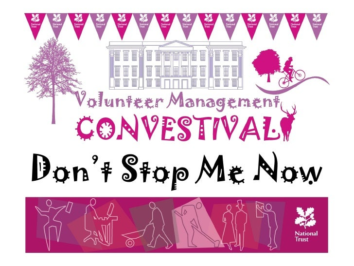 Don't stop me now…..Volunteer Management South Lakes