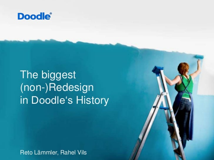 The biggest(non-)Redesignin Doodle'sHistory<br />RetoLämmler, Rahel Vils<br />