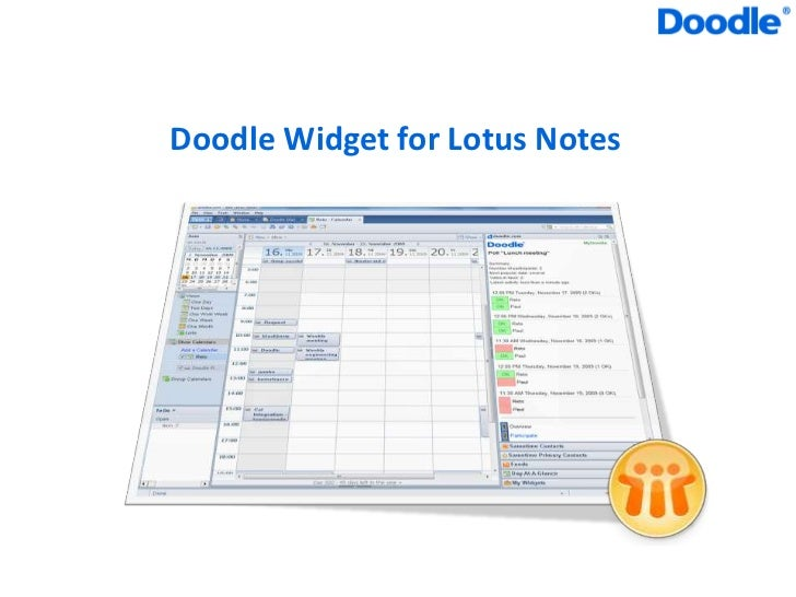 Doodle Widget For Lotus Notes
