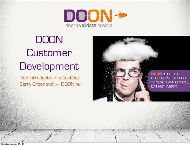 DOON customer development