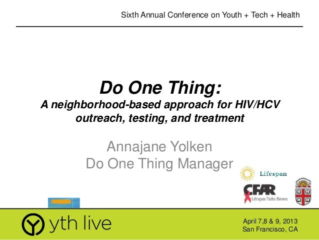 Do One Thing Youth Engagement in an HIV Media, Testing and Treatment Health Campaign