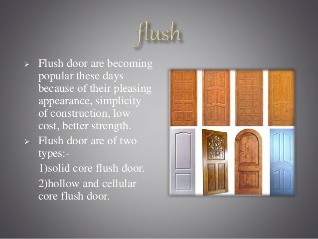 Types of doors for Solid core flush door price