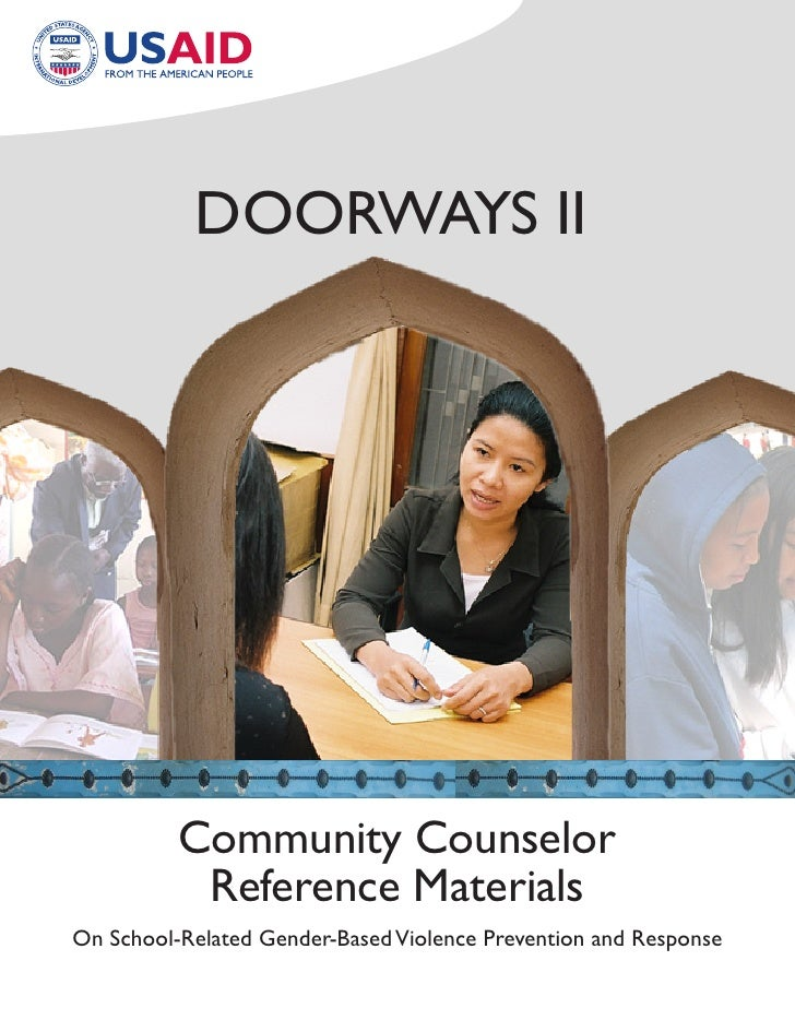 Doorways II               Community Counselor            reference Materials on school-related Gender-Based Violence Preve...
