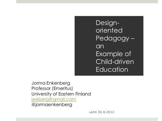 Design-                                oriented                                Pedagogy –                                a...