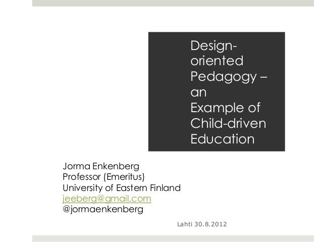 Design-oriented pedagogy
