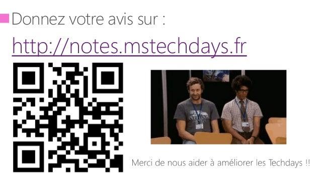 Donnez votre avis sur : http://notes.mstechdays.fr