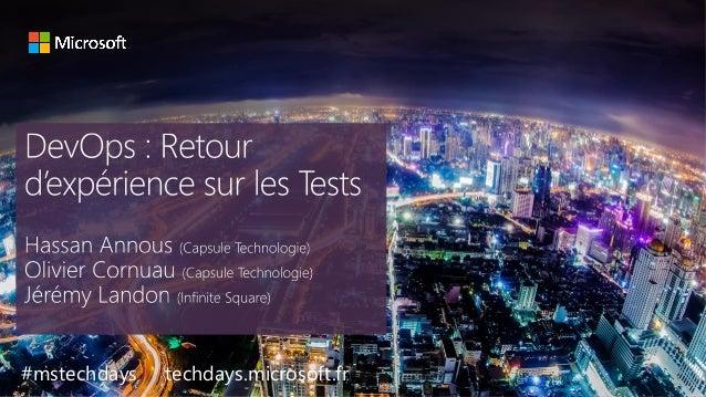 tech.days 2015#mstechdaysSESSION #mstechdays techdays.microsoft.fr