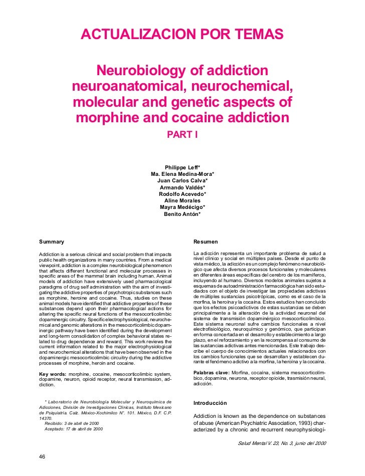 ACTUALIZACION POR TEMAS                   Neurobiology of addiction                neuroanatomical, neurochemical,        ...