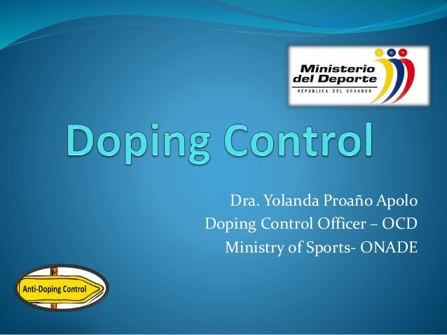 Doping control 2014