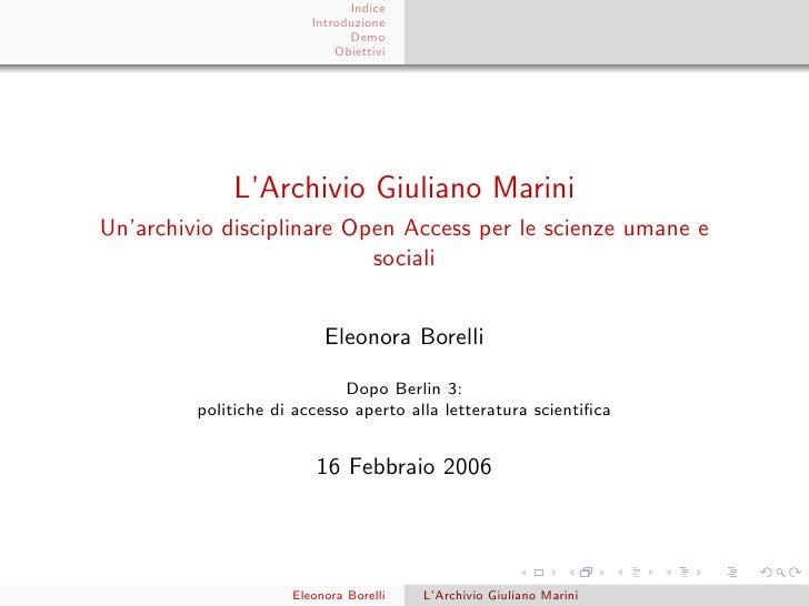 Dopo Berlin3  - L'Archivio Marini  (light)