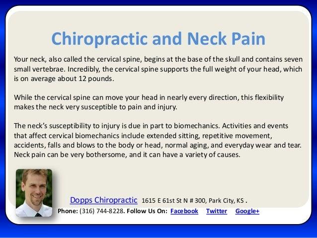 Dopps Chiropractic Neck Pain Phone:(316) 744-8228